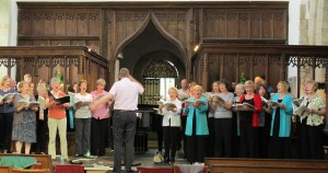 Rehearsing at Wootton Wawen church, June 2014