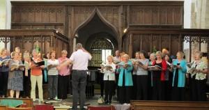 Rehearsing at Wootton Wawen church, June 2014