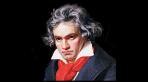 Beethoven completed his heroic Ninth Symphony in 1824.