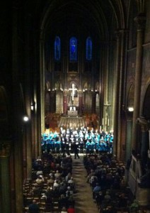 In performance at St Germain des Pres